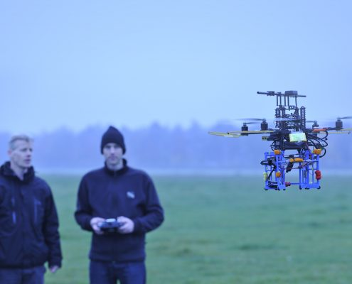 NLR's quadrocopter, a helicopter with four rotors