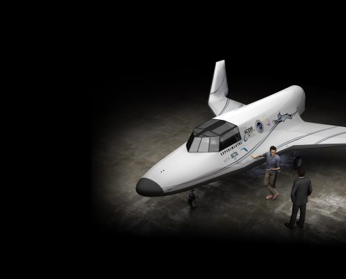 Supersonic flight with XCOR Space Expeditions - Image credit: Lynx/ Xcor