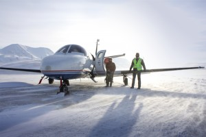 Flight testing Citation