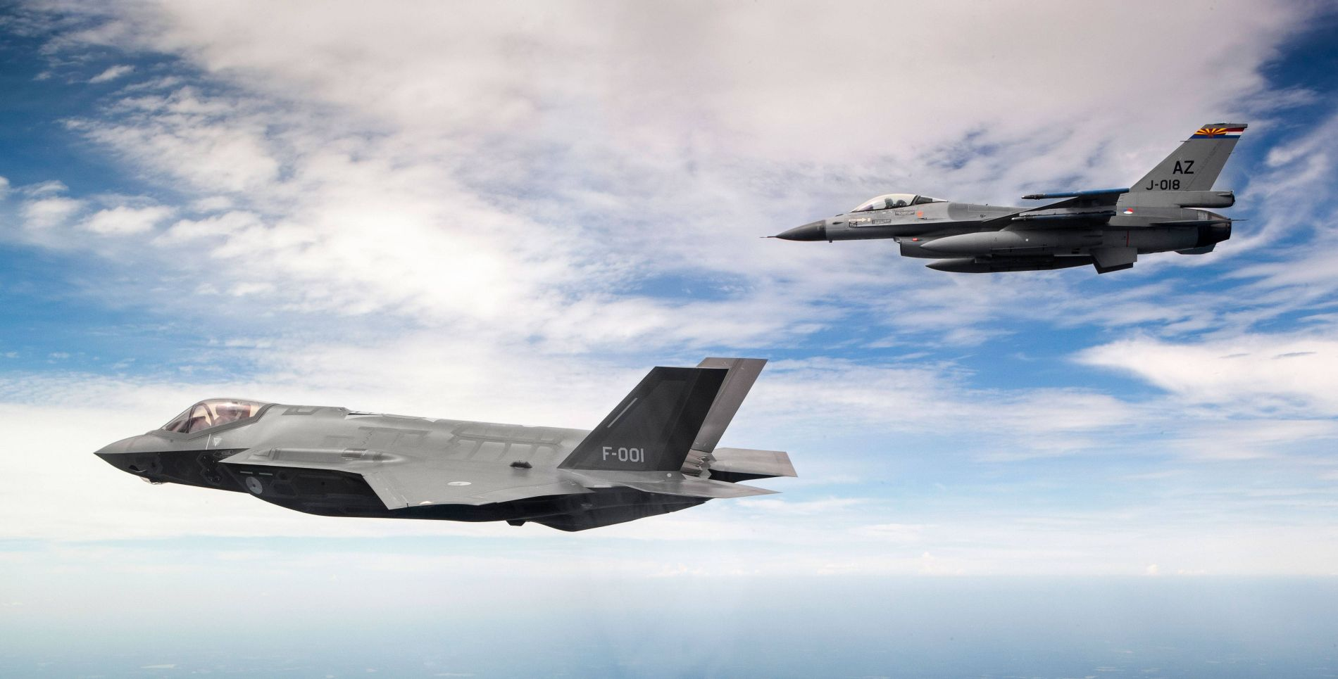 F 35 And F 16 In Joint Training