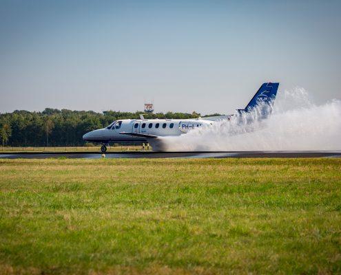 NLR conducted brake tests at Twente Airport