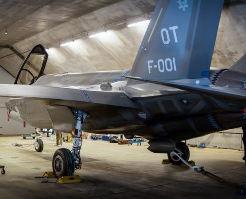 Hardened aircraft shelters on air force bases in the Netherlands suitable for F-35 aircraft