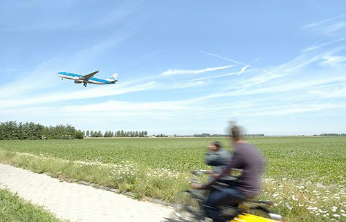 Take-off KLM airplane at Amsterdam Schiphol Airport