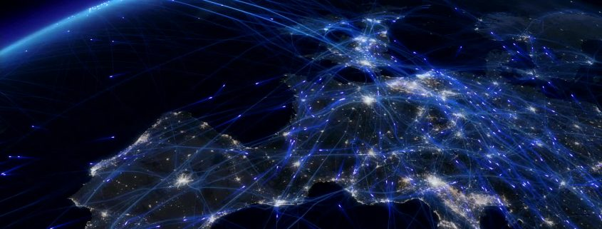European flight paths