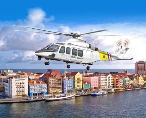 AgustaWestland AW139 transport helicopters for Dutch Caribbean Coastguard
