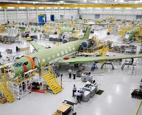 Gulfstream G6 business jet under construction - Courtesy Gulfstream ©