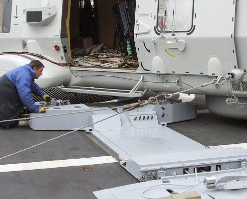 SAMAHE - Safely moving helicopters aboard frigates