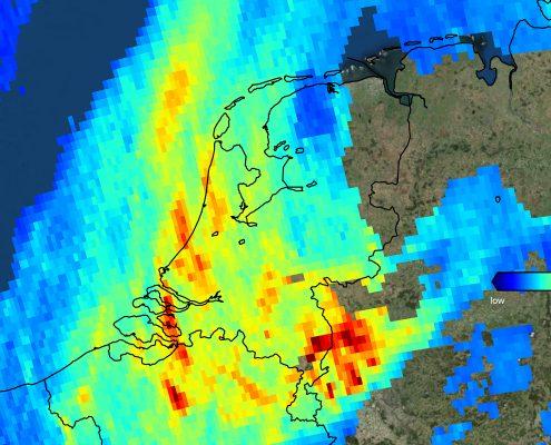 Nitrogen dioxide The Netherlands 7 November 2017