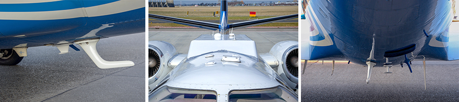 NLR installed special equipment in its Citation research plane, including several antennas, and obtained certification for the entire test set-up