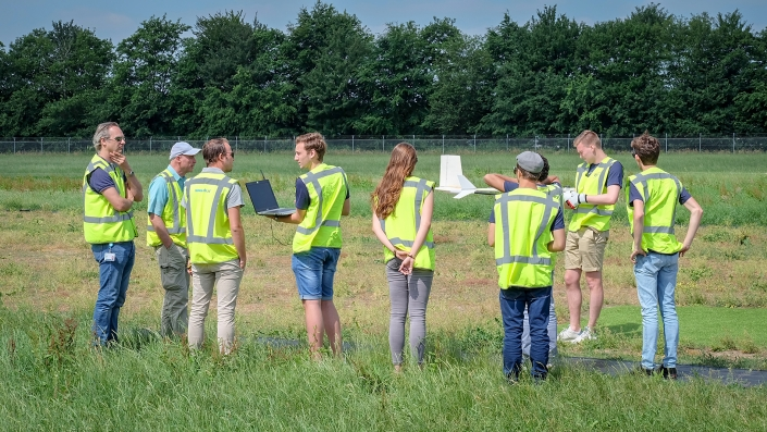 Student-designed drones complete maiden flight at NLR facility