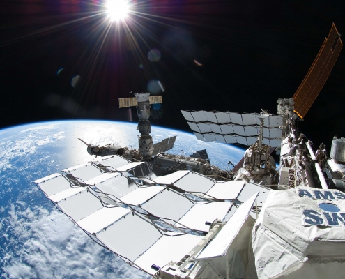 AMS on International Space Station (ISS)