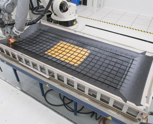 ACASIAS fuselage panel in NLR Fibre Placemnet Machine